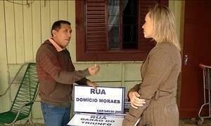 Morador cria placas para identificar ruas sem nome em cidade gaúcha