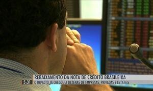 Mudança na nota de crédito causa rebaixamento de empresas brasileiras