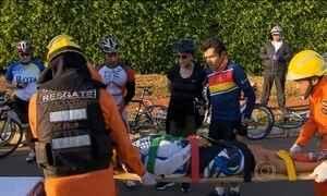 Presidente acompanha socorro a ciclista que se acidentou em Brasília