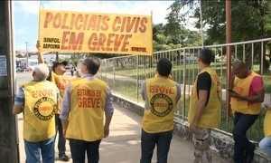 Policiais civis fazem greve por aumento salarial no Maranhão