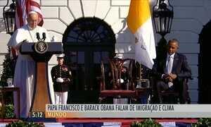 Papa Francisco fala sobre imigração no segundo dia da viagem aos EUA