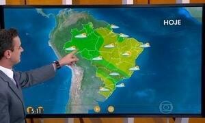 Confira como fica o tempo tempo nesta segunda-feira (28) em todo o Brasil