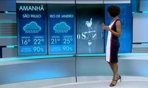 Com chegada de frente fria, a previsão é de chuva para domingo (4)