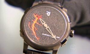 Cidade na Suíça produz relógios com lava de vulcão e pedaços do Titanic