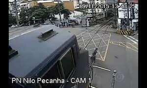 Idoso escapa de acidente de trem no Rio de Janeiro; veja o vídeo