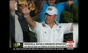 Político da oposição é assassinado durante comício na Venezuela