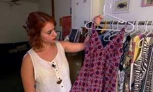 Bazar em SP aluga roupas usadas com ideia de consumo sustentável
