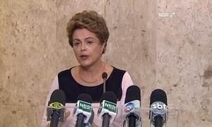 Dilma fala sobre o processo de impeachment