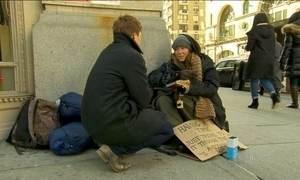 Número de moradores de rua quase dobrou na última década em NY