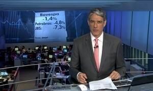 Bovespa fecha em queda devido ações da Petrobras e da JBS