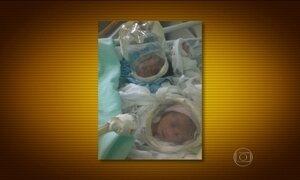 Bebês usam máscaras de oxigênio de garrafas PET em hospital no AM