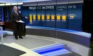 Preço real dos imóveis caiu em nove cidades brasileiras em janeiro