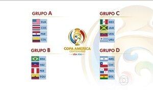 Grupos da Copa América são sorteados