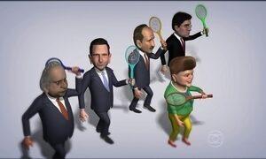 """Charge do Chico mostra a """"caça ao mosquito"""" liderada pela presidente Dilma"""