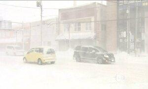 Nevasca provoca transtornos no Japão