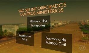 Temer promete cortar dez ministérios, se assumir Presidência da República