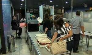 Inspeção nos aeroportos fica mais rigorosa a partir de segunda (18)