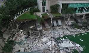 Desabamento em condomínio em Vitória deixa um morto