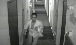Vídeo mostra suspeito de estupro saindo do quarto de vítima em hotel