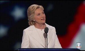 Hillary Clinton faz 1º discurso como candidata à presidência dos EUA