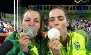 Brasil leva a prata no vôlei de praia feminino ao perder para Alemanha