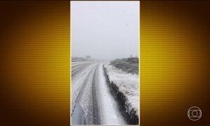 Neve atinge a Serra Catarinense