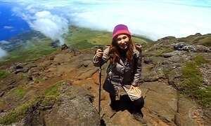 Equipe do Globo Repórter escala montanha vulcânica de 2.350 metros