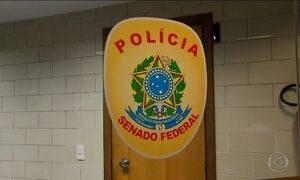 Polícia do Senado fez varreduras em endereços pessoais, diz PF