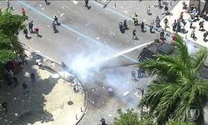 Servidores fazem novo protesto no Rio e entram em confronto com PMs