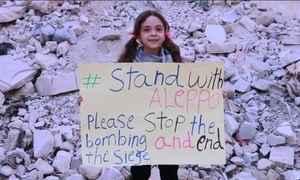 Menina usa redes sociais para denunciar horrores da guerra na Síria