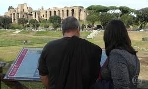 Jornal Hoje conta a história do Circo Mássimo de Roma