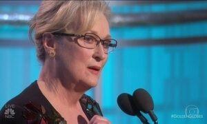 A 12 dias da posse, Trump é criticado por Meryl Streep no Globo de Ouro