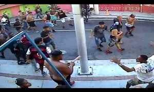 Fantástico mostra imagens inéditas da briga entre torcedores de Fla e Bota