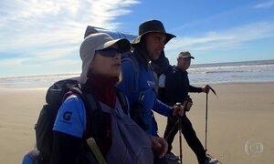Equipe do Globo Repórter percorre 235 quilômetros a pé no sul do país
