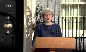 Premiê britânica convoca eleições três anos antes do previsto