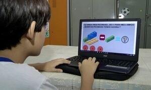 Menino de dez anos desenvolve aplicativo que ajuda no aprendizado de outras crianças