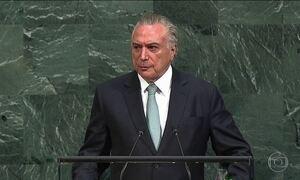Temer abre Assembleia Geral da ONU e defende reformas de seu governo