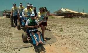 Piauí tem praias adaptadas para turistas com problema de locomoção