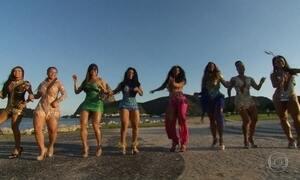 Fantástico reúne rainhas de bateria de escolas de samba do Rio