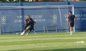 Seleção já está em Rostov para o jogo de estreia contra a Suíça