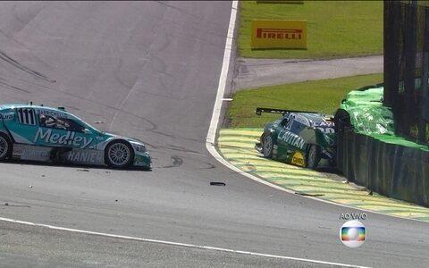 Veja o acidente com Gomes no início da prova