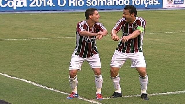 Jogadores do Fluminense esbanjam criatividade ao comemorar os gols com dancinhas