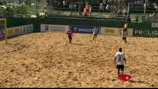 Equipes participam de Campeonato de Futebol de Areia do ES