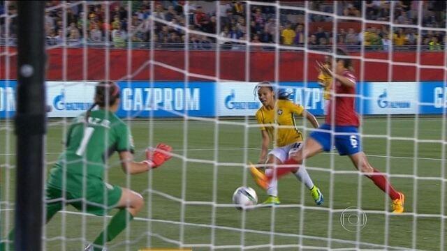 Brasil vence Costa Rica em partida da Copa do Mundo de Futebol Feminino