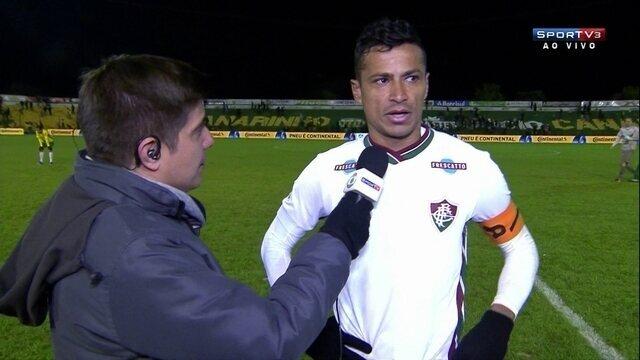 Cícero fala de enfrentar o frio e campo em jogo contra o Ypiranga-RS pela Copa do Brasil