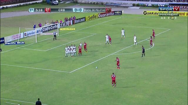 Veja os melhores momento do jogo entre CRB e Brasil de Pelotas