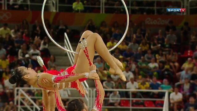 Japonesas ficam em último lugar na final da ginástica rítmica; veja segunda rotação