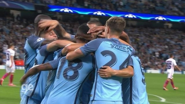 O gol de Manchester City 1 x 0 Steaua Bucareste pelos playoffs da Liga dos Campeões
