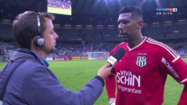 """Aranha reconhece falhas contra Atlético-MG e diz: """"Poderíamos ter vencido"""""""