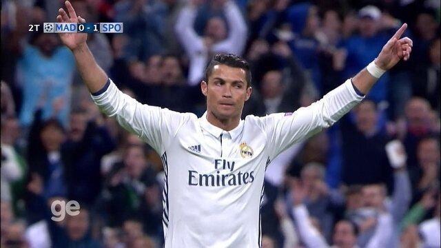 Gol do Real Madrid! Cristiano Ronaldo marca em cobrança de falta, aos 43 do 2º tempo